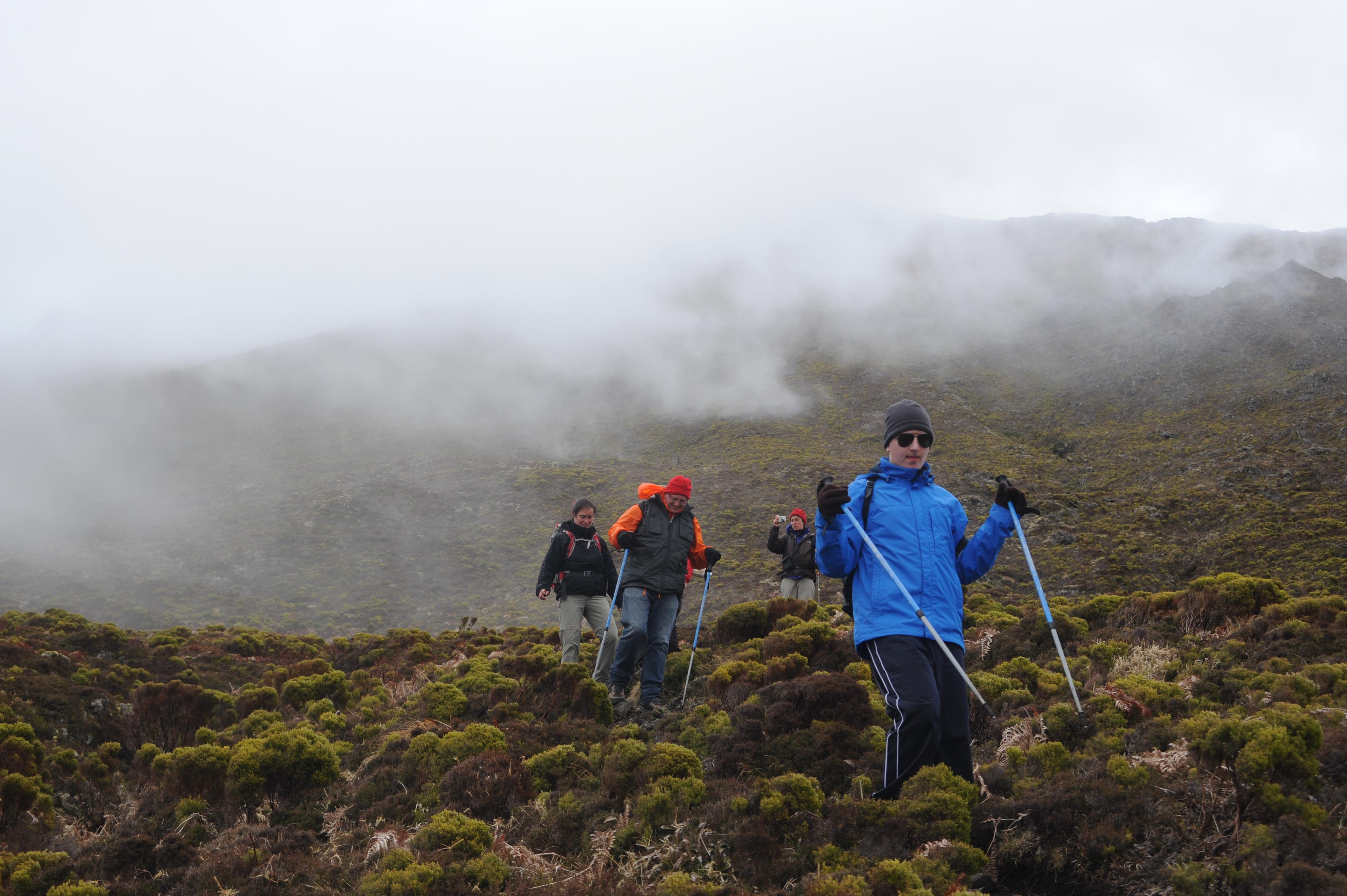 Climbing Pico moutain